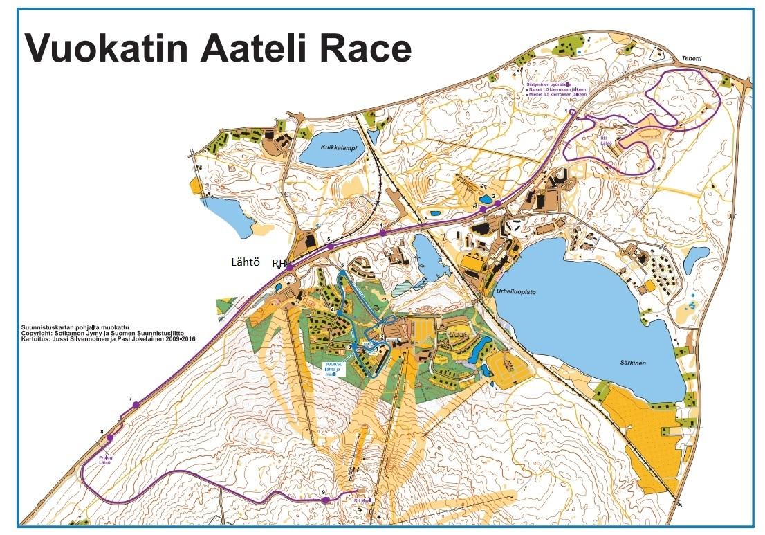Vuokatin Aateli Race 2019 Kartta 001 Vuokatti Sport